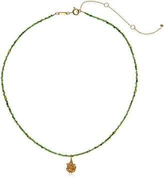 Satya Jewelry Jade Gold Plated Ganesha Choker Necklace