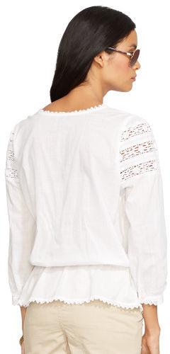 Ralph Lauren Jeans Co. Crochet-Trim Cotton Blouse 4