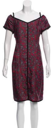 Marc Jacobs Printed Silk Knee-Length Dress