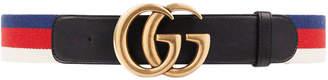 Gucci Sylvie Web Belt Double G Buckle Red/White/Blue/Black