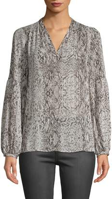 Saks Fifth Avenue Snake Printed Balloon-Sleeve Blouse