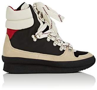 Isabel Marant Women's Brenta Mixed-Fabric Hiking Boots