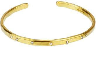 Yvonne Henderson Jewellery - Gold Torque Bangle With White Sapphires