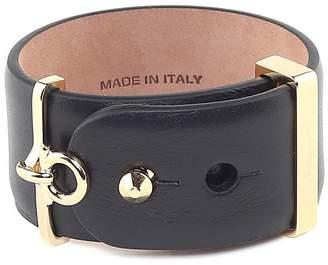 Salvatore Ferragamo Gancini Smooth-leather Band Bracelet