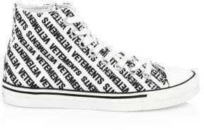 Vetements Printed Canvas Sneakers