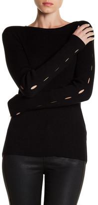 Cullen Rib Crew Cutout Sleeve Sweater $141.60 thestylecure.com