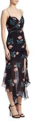 Nicholas Piper Floral Silk Drawstring Dress