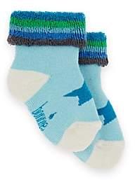 The Bonnie Mob Striped Star-Graphic Socks-Blue