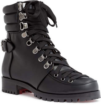 Christian Louboutin Who Runs black leather boots