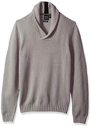 Armani Exchange A|X Men's Textured Knit Shawl Collar Sweater