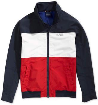 Tommy Hilfiger Adaptive Men Flag Regatta Jacket with Magnetic Zipper