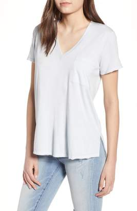 Lush Raw Edge Side Slit Tee