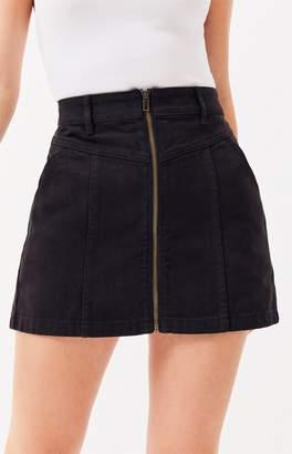 PacSun Zip Front V Yoke Skirt