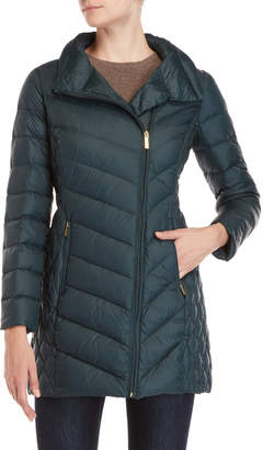 MICHAEL Michael Kors Packable Asymmetrical Down Coat