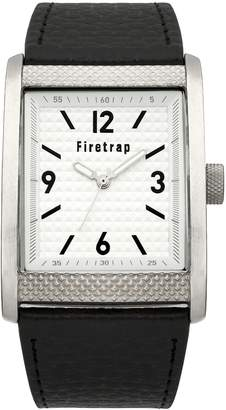 Firetrap Men's Quartz Watch with Dial Analogue Display and Black PU Strap FT2016B