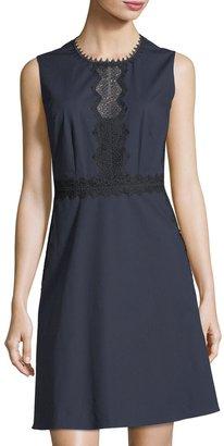 T Tahari Lace-Inset A-Line Dress $99 thestylecure.com
