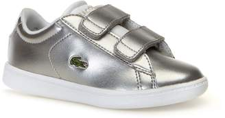 Lacoste Infants' Carnaby Evo Silver Synthetic Trainers