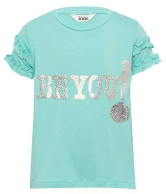 M&Co Holographic slogan t-shirt