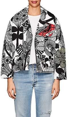 Comme des Garcons Junya Watanabe Women's Floral Cotton Canvas Moto Jacket