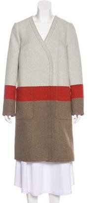 Tory Burch Colorblock Knee-Length Coat