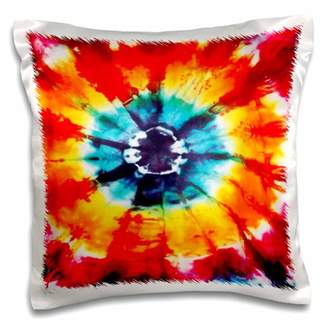 3dRose Colorful Multi-Colored Tie-Dye Pattern - Pillow Case, 16 by 16-inch