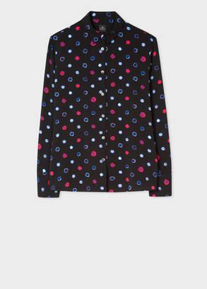 Paul Smith Women's Black 'Scribble Spot' Shirt