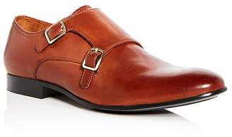 Kenneth Cole Men's Mix Leather Double Monk Strap Oxfords