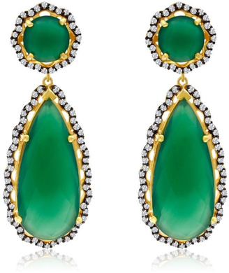 6th Borough Boutique Emerald Layla Earrings