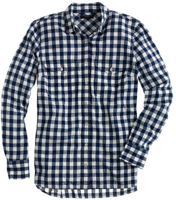 J.CrewTall gingham utility shirt