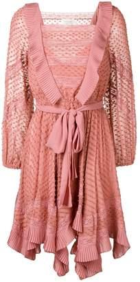 Zimmermann embroidered draped dress