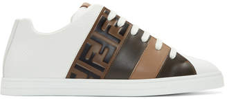 Fendi White Forever Reloaded Sneakers