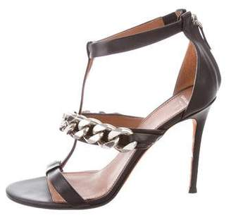 Givenchy Leather Chain-Link Sandals