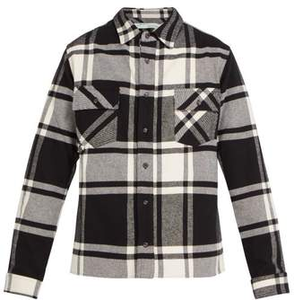 Off-White Off White Checked Cotton Blend Shirt - Mens - Grey