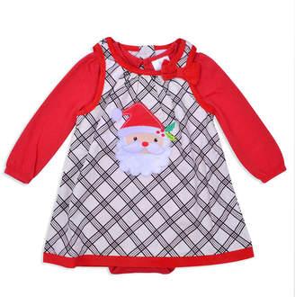 Nanette Baby Long Sleeve Santa Corduroy Dress - Baby Girls