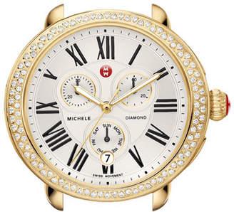 Michele 18mm Serein Diamond Watch Head, Gold