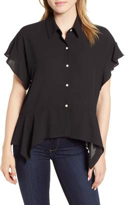 1 STATE 1.STATE Button Up High/Low Blouse