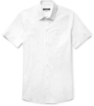 Dolce & Gabbana Slim-Fit Stretch-Cotton Poplin Shirt