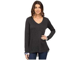 NYDJ Key Item Mixed Media Sweater Women's Sweater