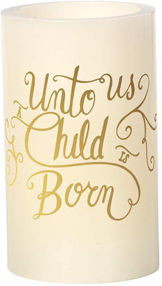 Precious Moments Unto Us A Child Is Born Flameless Candle