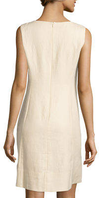 Lafayette 148 New York Laurette Sleeveless Linen A-Line Dress
