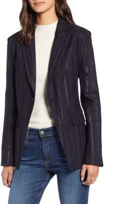 AG Jeans Keats Metallic Stripe Blazer