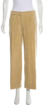 Giorgio Armani Corduroy Mid-Rise Pants Tan Corduroy Mid-Rise Pants