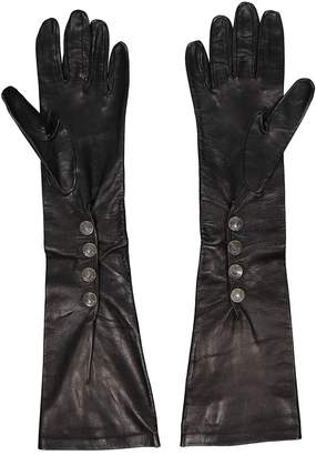Galliano Black Leather Gloves