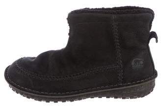 Sorel Nubuck Pull-On Ankle Boots