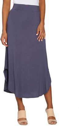 Logo By Lori Goldstein LOGO Layers by Lori Goldstein Knit Skirt with Curved Hem