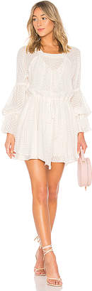 Shona Joy Jean Puff Sleeve Mini Dress