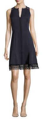 Elie Tahari Loz Crochet-Trimmed Dress $348 thestylecure.com