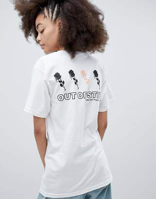 Obey Relaxed T-Shirt With Out Of Step Back Graphic