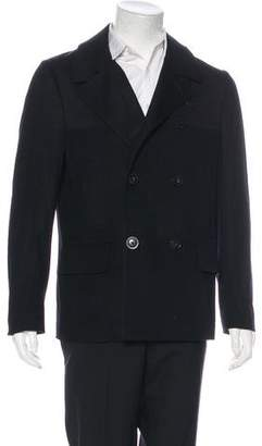 Paul Smith Double-Breasted Wool Peacoat