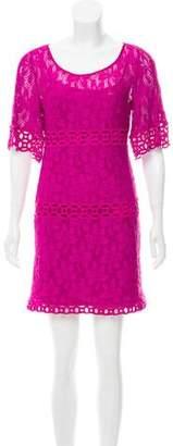 Laundry by Shelli Segal Crocheted Mini Dress